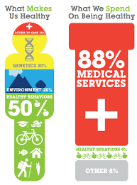 we spend most on medical services, and spend less on what actually makes us healthy