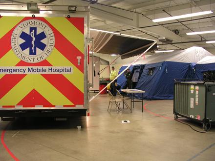 VT mobile hospital setup