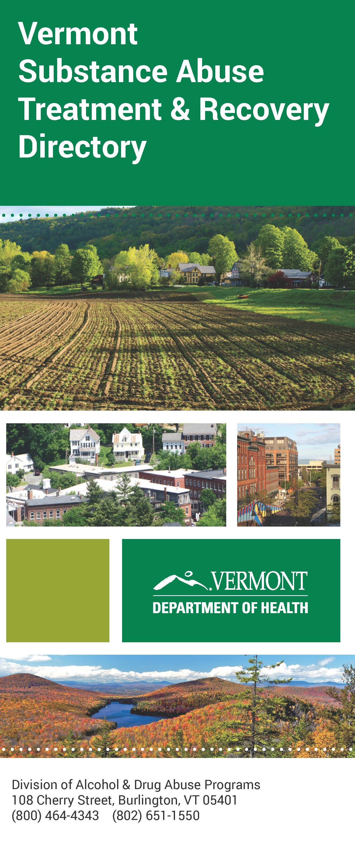 Vermont Substance Abuse Treatment & Recovery Directory