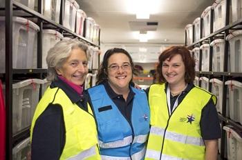 three MRC volunteers