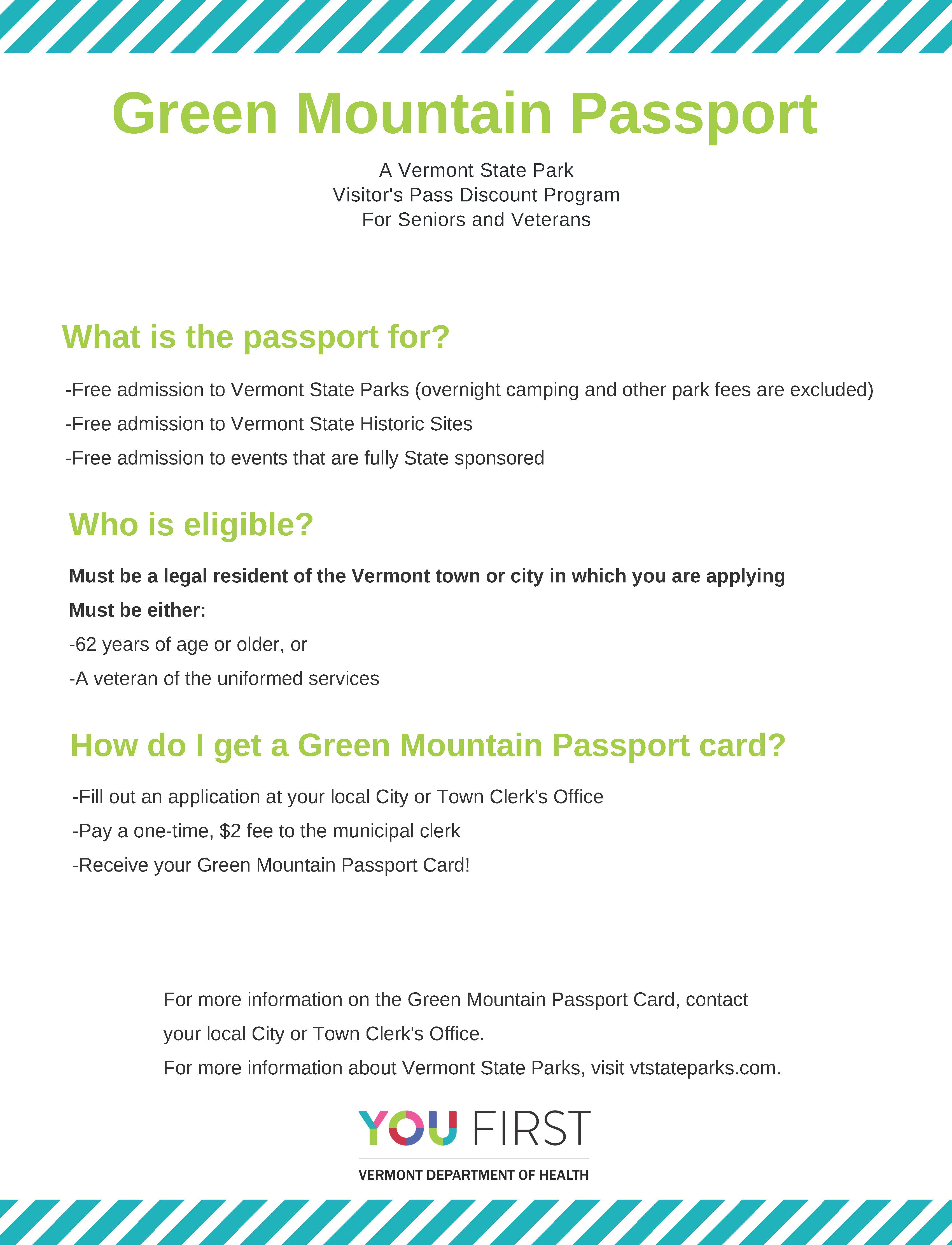 Green Mountain Passport Handout