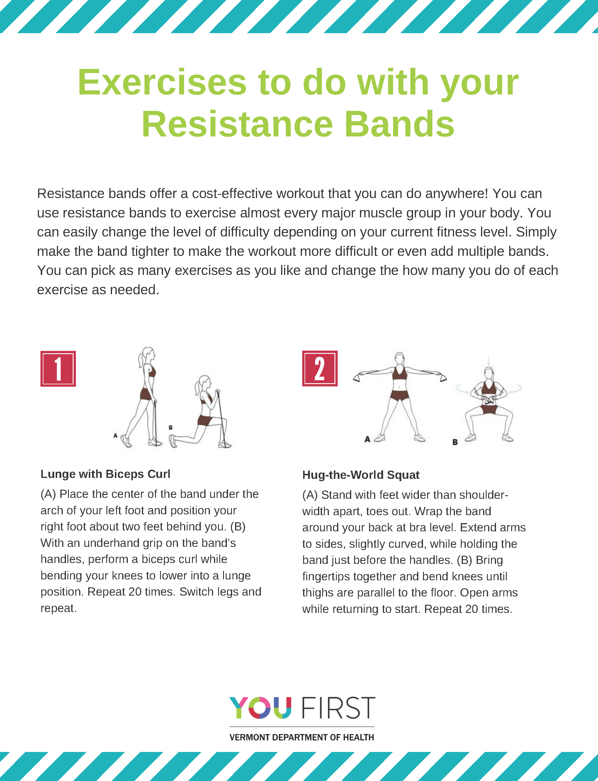 Exercises to do with resistance bands handout