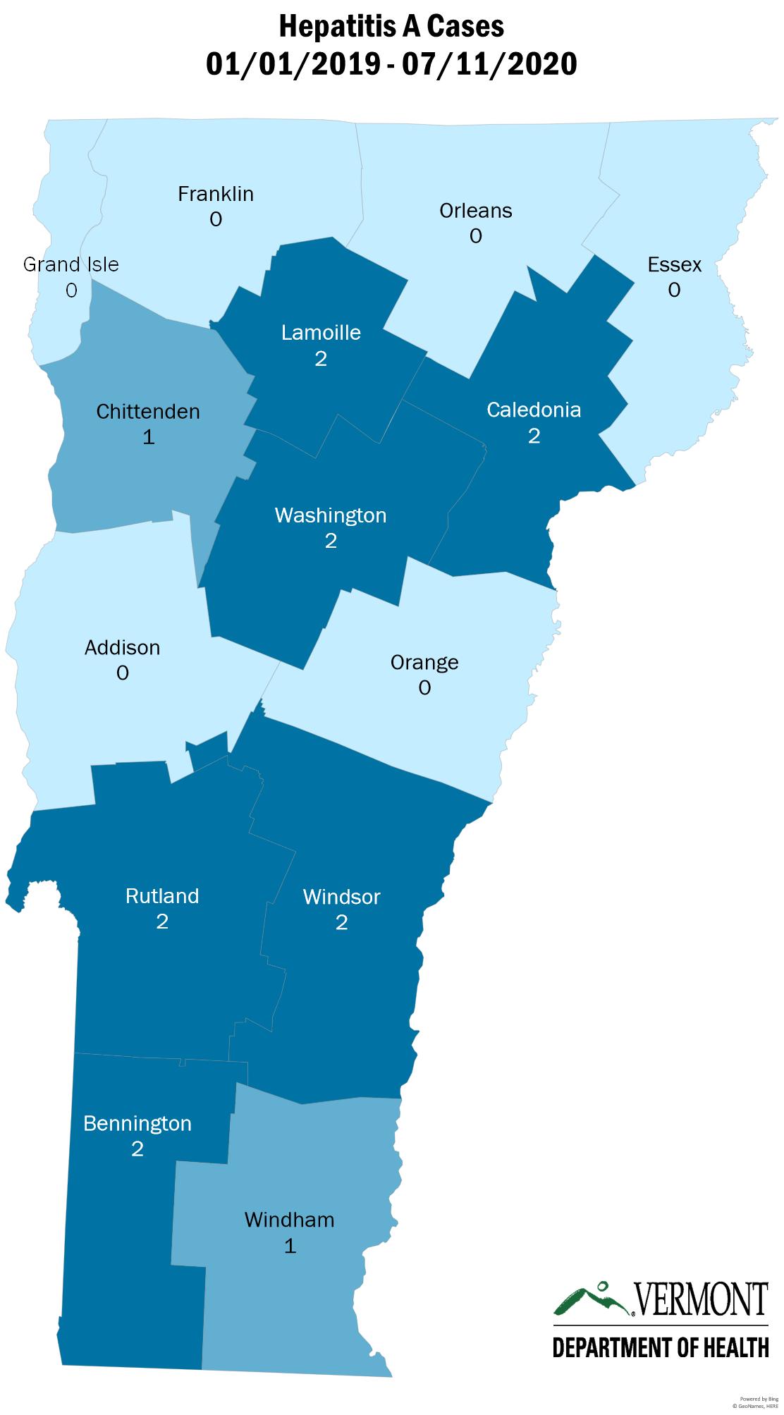 Hepatitis A Map