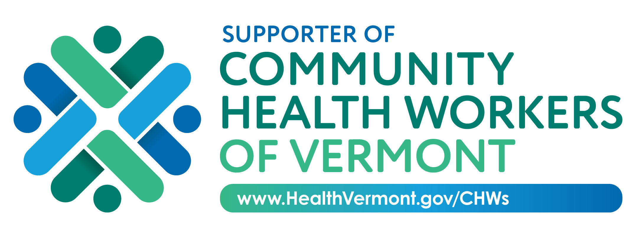 "Web badge that reads ""Supporter of Community Health Workers of Vermont"""