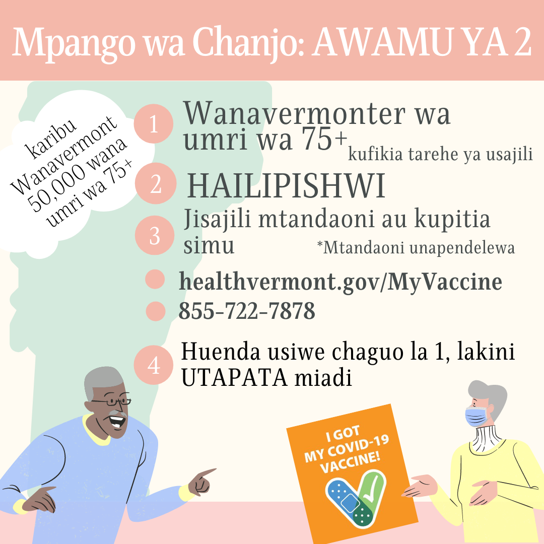 describes phase 2 vaccination in Swahili
