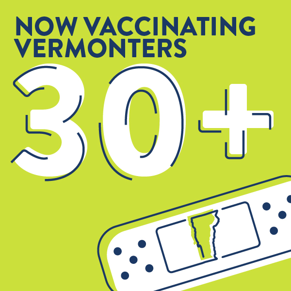 Now Vaccinating People 30+ years old
