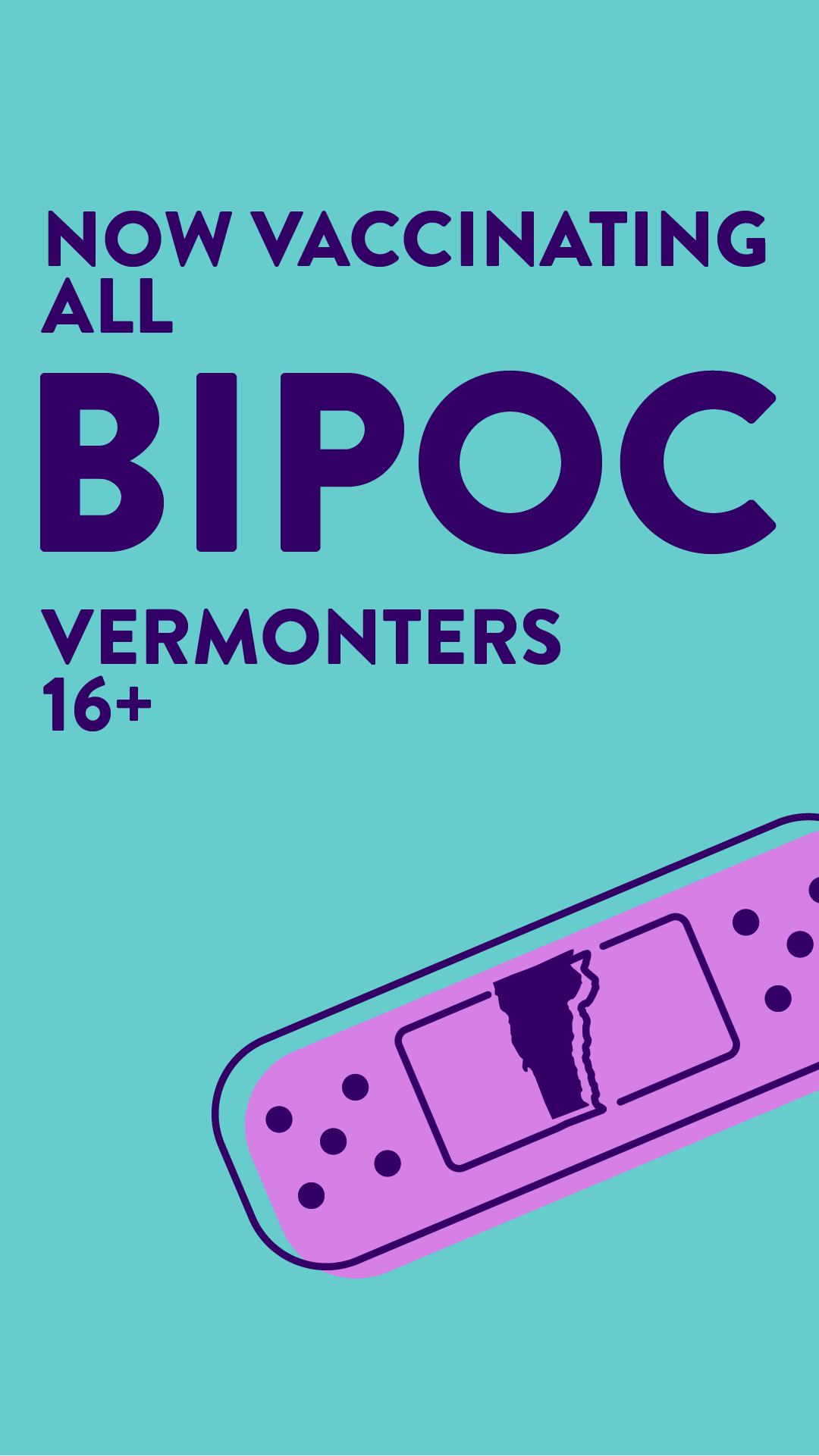 Now vaccinating all BIPOC Vermonters 16+