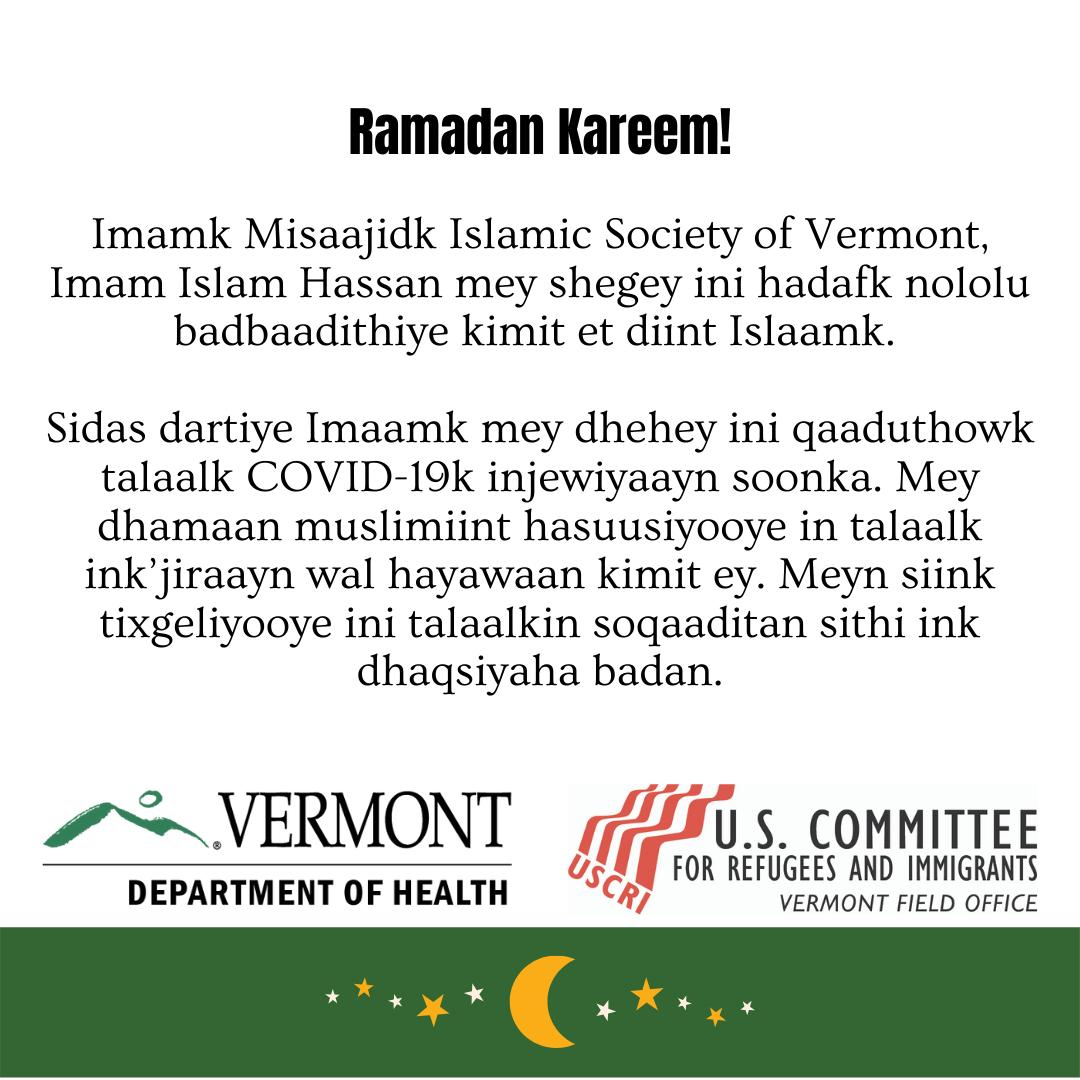 Ramadan and vaccine - Maay Maay