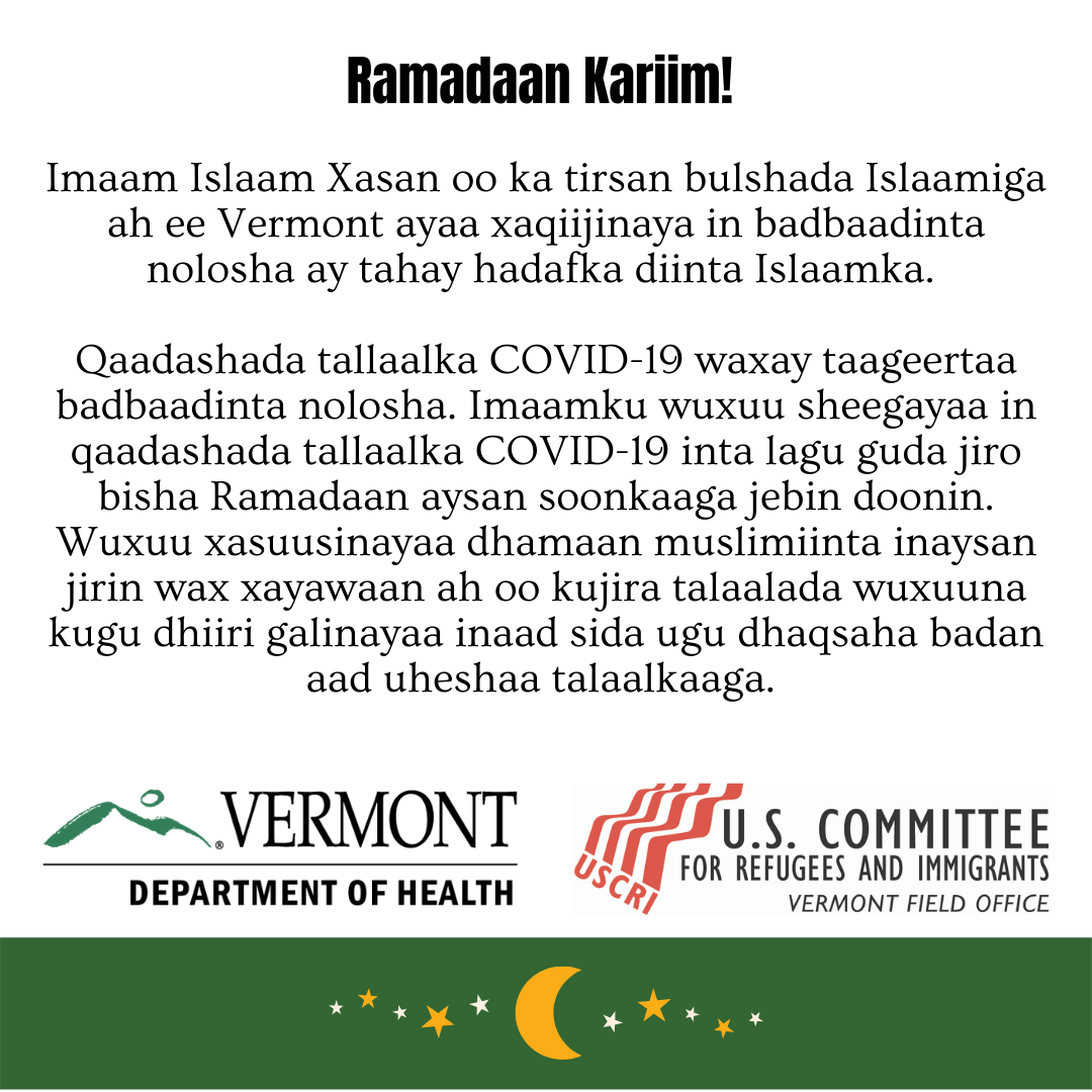 Ramadan and vaccine - Somali