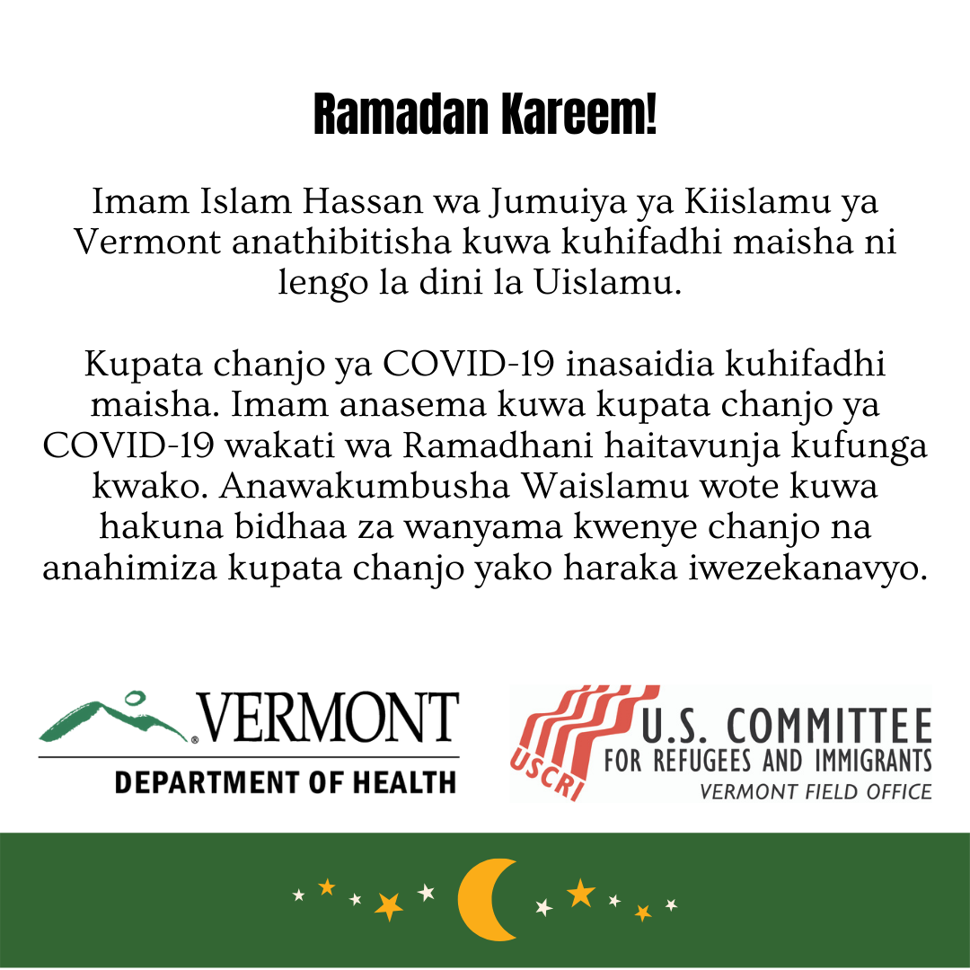 Ramadan and vaccine - Swahili