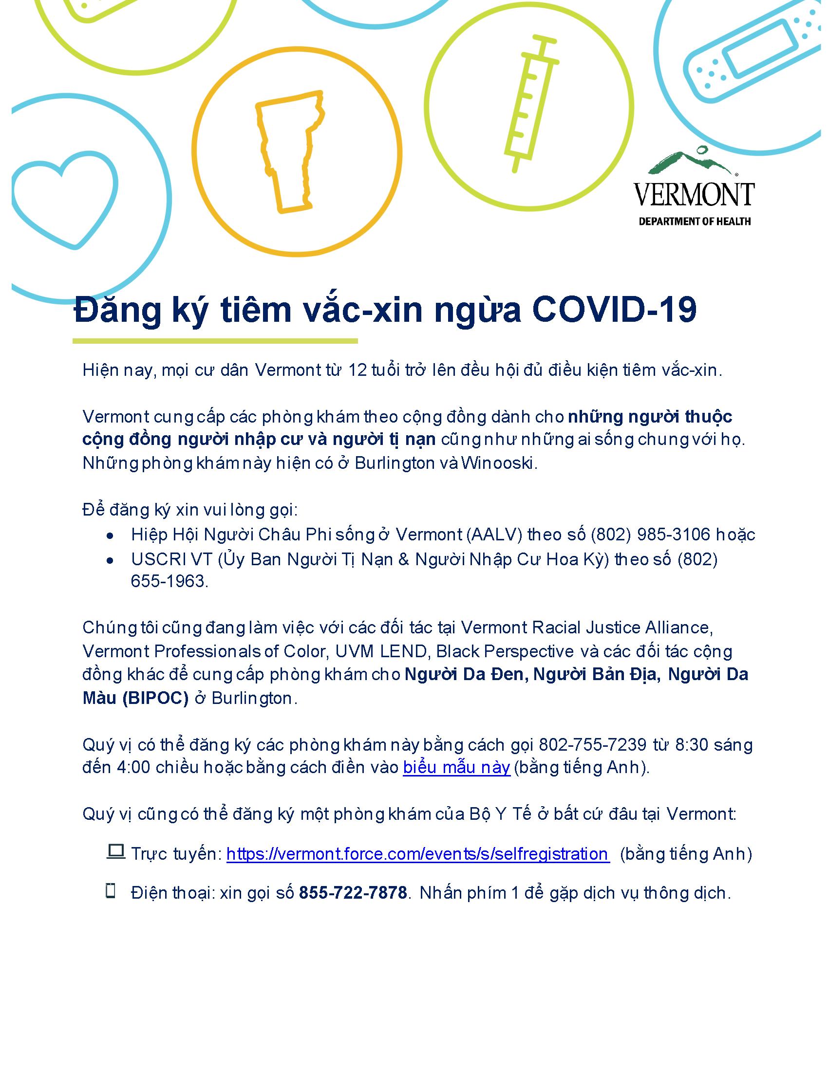 vaccine registration info - Vietnamese
