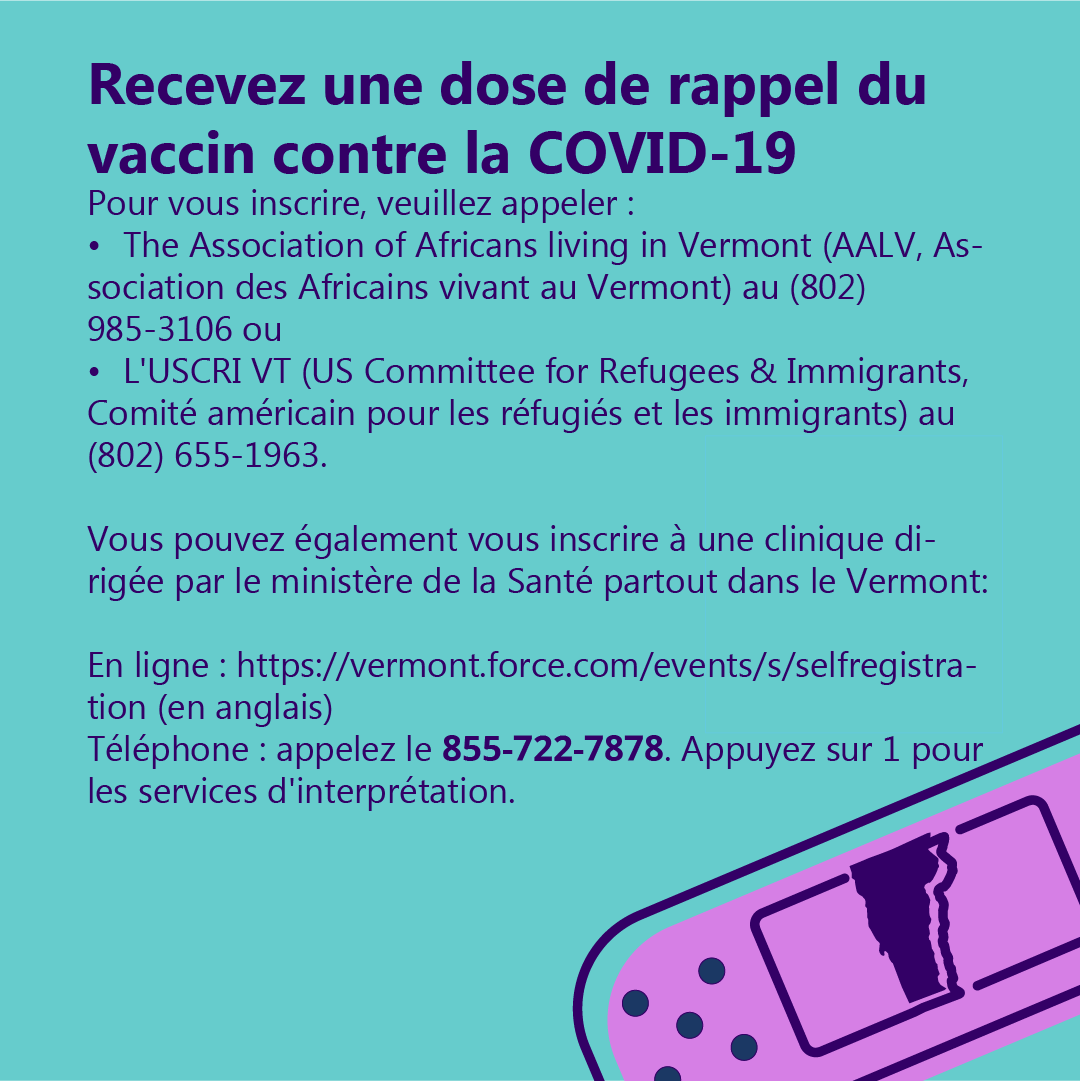 Register for the COVID-19 Booster Shot (French)