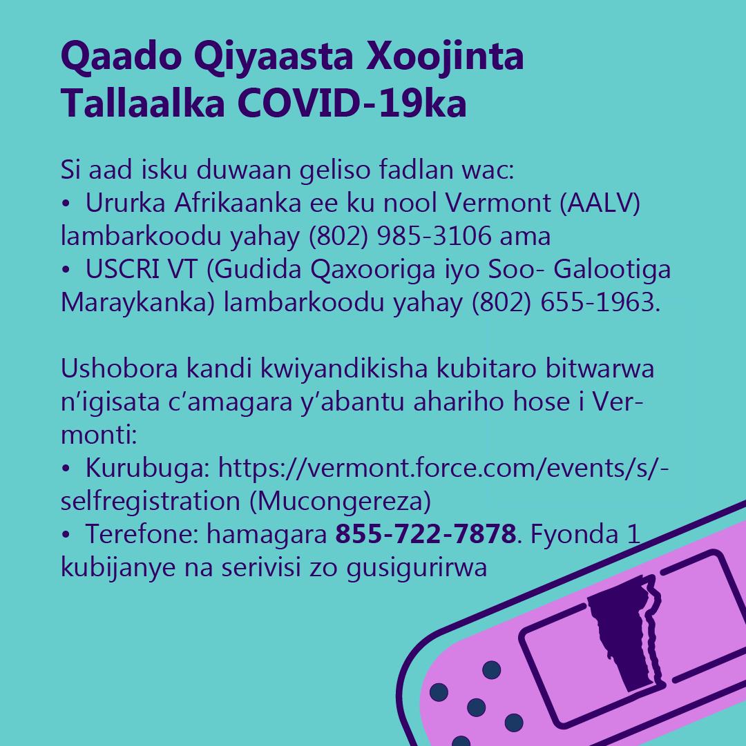 Register for the COVID-19 Booster Shot (Somali)