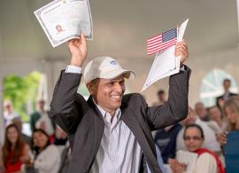 Vermonter at new American citizenship ceremony
