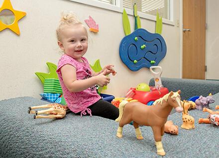 toddler girl play area