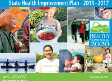 Vermont's State Health Improvement Plan cover photo collage