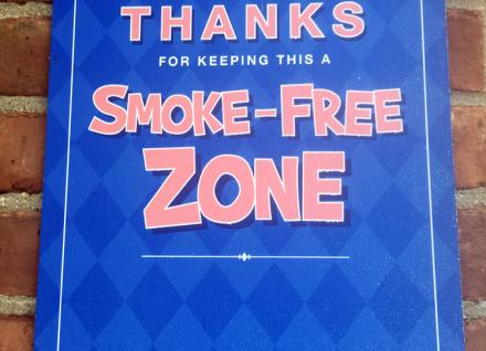Sign that says Smoke-Free Zone