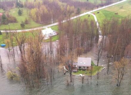 Sand Bar State Park Flooding