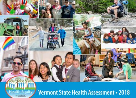 Vermont State Health Assessment 2018 cover photo montage