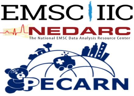 logos for NEDARC, PECARN, and EMSC IIC