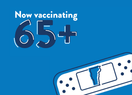 Now vaccinating people 65+