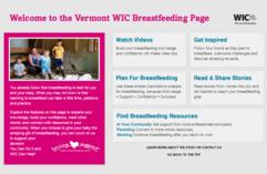 WIC Breastfeeding Support Widget