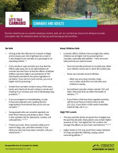 Adult Cannabis Use Fact Sheet